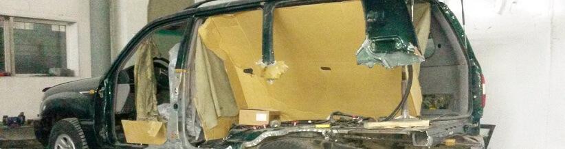 Кузовной ремонт как править среднюю стойку 1